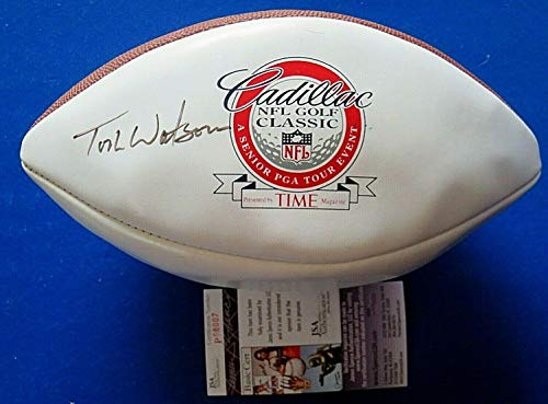 %36 OFF! Tom Watson Signed Cadillac Golf Classic Wilson Football ~ Coa P08007 - JSA Certified - Auto...