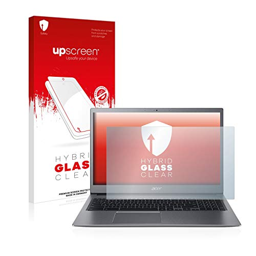 upscreen Hybrid Glass Panzerglas Schutzfolie kompatibel mit Acer Chromebook 715 9H Panzerglas-Folie