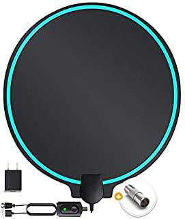 DrillTop Amplified HD Digital TV Antenna Best Ultra Long Range, Support 4K 1080p TV's | Indoor Smart Switch Amplifier Signal Booster Award 2019 Patented Round Shape = Better Signal (B07VNBD9KS) | Amazon price tracker / tracking, Amazon price history charts, Amazon price watches, Amazon price drop alerts