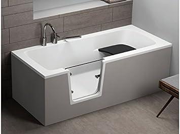 Vo Vasca Da Bagno Per Anziani 170 X 75 Cm Colore Bianco Amazon It Fai Da Te