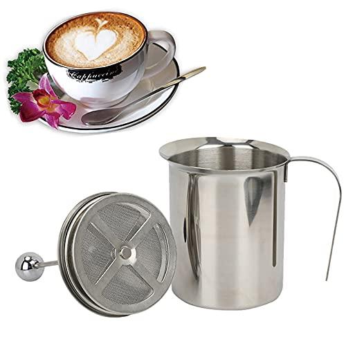 Handmatige Roestvrijstalen Melkopschuimer Handmatig Melkschuim Melkopschuimer Melkschuim Cappuccino 1 Set…