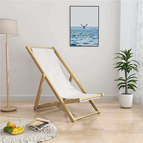 Wood Folding Lounge Chair With Armrest,Outdoor Stripe Beach Chair,Sunbathing Recliner For Children Pool Garden Patio