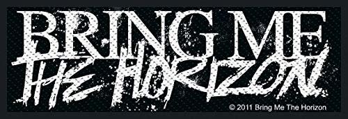 Bring Me The Horizon Horror Logo Unisex Patch Standard 100% Polyester Undefiniert Band-Merch, Bands
