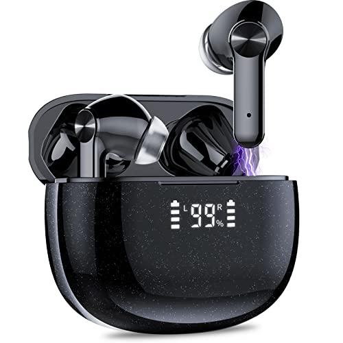 ORSNOG Auriculares Inalámbricos, Bluetooth 5.1 Auriculares In Ear con Estuche de Carga, 50 Horas, Sonido HiFi, Auriculares Inalambricos Bluetooth con Control Táctil, IPX7 Impermeable Deportes y Viajes