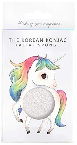 The Konjac Sponge Co éponge de face pour nettoyer et exfoliar, blanc – 1 unité