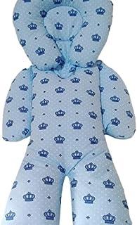 Almofada Protetora Redutor de Bebê Conforto Coroa Azul Royal