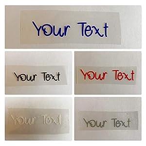1 Bügeletikett zum Aufbügeln mit Ihrem Text viele Farben wählbar