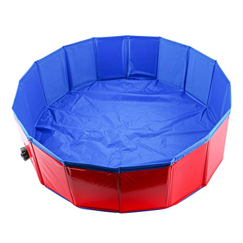 Homend 32inch.D x 12inch.H PVC Pet Swimming Pool Portable Foldable Pool Dogs Cats Bathing Tub Bathtub Wash Tub Water Pond Pool (80cm x 30cm (32inch.D x 12inch.H))