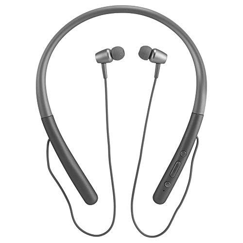 H700 Magnetische Bluetooth-oortelefoon, Bluetooth-koptelefoon met nekband-insteekkaart, Intelligente ruisonderdrukking / Handsfree bellen / Comfortabel om te dragen (grijs)