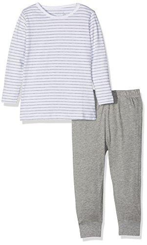 NAME IT Baby-Mädchen NMFNIGHTSET Mel NOOS Zweiteiliger Schlafanzug, Mehrfarbig (Grey Melange), 104