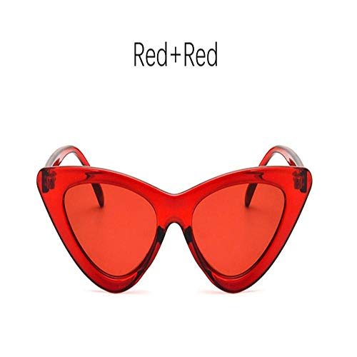 Yoovos Cateye Gafas de Sol para Mujer 2019 Retro Cat Eye Brand Design Gafas de Sol Mujeres Vintage Oculos Feminino Gafas de Sol Redred