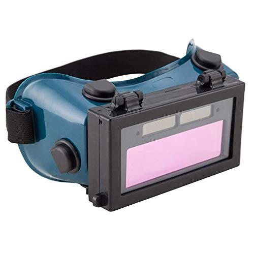Zonster Máscara 1pc De Oscurecimiento Automático De Soldadura Casco Gafas Solares Soldador Ojos Gafas De Protección De Gas Lente De Ojo (Verde Oscuro)