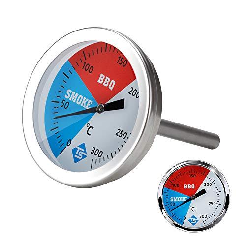 KKmoon Ofenthermometer 0-300 °C Temperaturanzeige Edelstahl Kochthermometer Rundthermometer geeignet für Grill Ofen Raucherofen