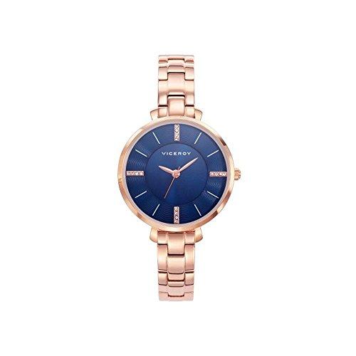 Viceroy Reloj Analogico para Mujer de Cuarzo con Correa en Acero Inoxidable 471062-37