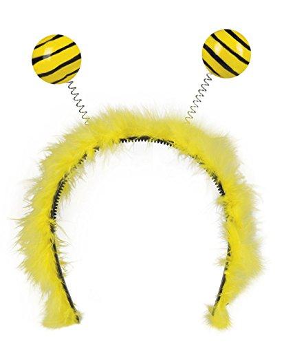 Boland 76326 - Haarreif Honigbiene, gelb/schwarz, für Erwachsene, One Size, mit Fühlern, Karneval, Themenparty, Mottoparty