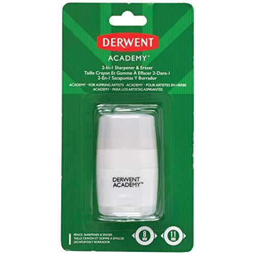 Derwent Academy Pencil Sharpener & Eraser, 2-In-1 (98230)