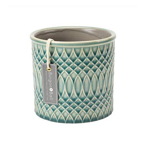 Burgon & Ball Moroccan Indoor Glazed Ceramic Plant Pot Small in Celadon Green
