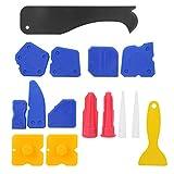 Kit de herramientas de calafateo con raspador de plástico, removedor de sellador de silicona, operación simple, 15 piezas, herramienta manual de silicona para moldear
