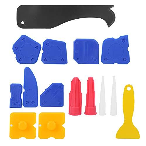 Removedor de masilla de silicona 15PCs Kit de raspador de calafateo Espátula Limpiador Cemento de vidrio para piso de baño
