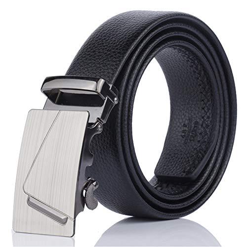 Correas De Cuero De Los Hombres Negro Cinturón Hombre Vestido De Trinquete Correa Con La Hebilla Automática De La Pretina De La Correa De Los Pantalones Vaqueros
