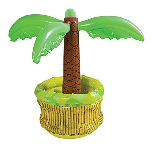 CRGANGZY Enfriador Inflable de Palmera, decoración de Fiesta temática de Playa, árbol de Coco, Enfriador de Bebidas, Almohadilla de Hielo para Almacenamiento, Cubo de Hielo Inflable de Coco
