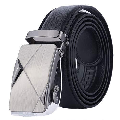 Cinturón de cuero para hombres con hebilla automática