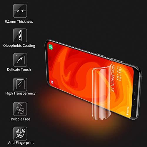 RIWNNI [3 Stück Schutzfolie für Huawei Mate 30 Pro, Ultra Dünn Weiche TPU Displayschutzfolie (Nicht Panzerglas), HD Klar Displayschutz Folie Full Screen für Huawei Mate 30 Pro [Transparent] - 2