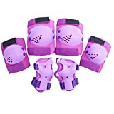 TOYANDONA 1 Set Kids Outdoor Sports Protector Cycling Skateboard Protective Gear Knee Elbow Pads (Purple)