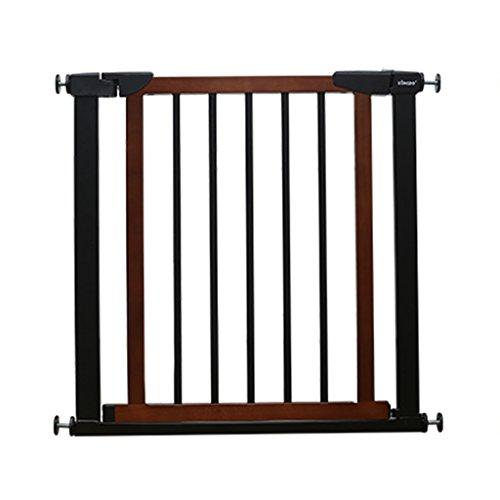 barrière de sécurité Portes De Bébé En Bois Pour Les Escaliers Intérieurs Doorway House Porte Extra Large Pour Animaux De Compagnie À Pression Facile Fermer, Noir 75-180cm De Large ( taille : 152-159cm )