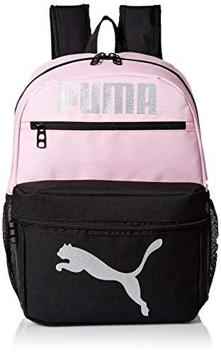 PUMA Girls' Big Evercat Meridian Backpack, Pink/black, Youth Size
