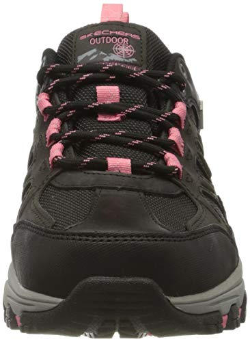 Skechers Selmen-West Highland, Zapatillas Mujer, Negro (BKCC Black Leather/Textile/Coral Trim), 38 EU