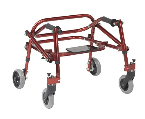 Inspired by Drive Nimbo 2G Lightweight Posterior Walker with Seat, Castle Red, Extra Small