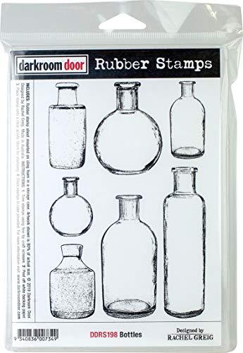 Darkroom Door Cling Stamps 7'X5'-Bottles, Red