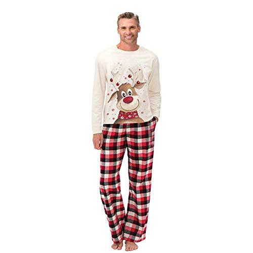 Crazyfly Conjunto de ropa de dormir, Padres-Hijo Pijamas Conjunto Lindo Alce Pijamas Conjuntos de Navidad Familia de Coincidencia Traje para Niños Hombres Mujeres
