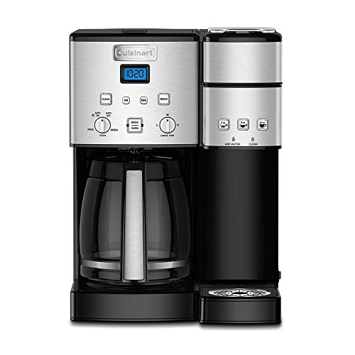 Cuisinart SS-15 12-Cup Coffee Maker and Single-Serve Brewer, Stainless Steel (Renewed)