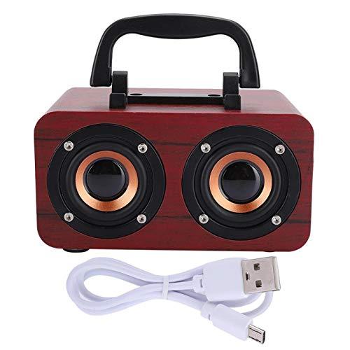 FECAMOS stabile Leistung Mini Speaker Retro Style Lautsprecher für Musik(Red...