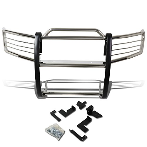 DNA MOTORING GRILL-G-065-SS Front Bumper Brush Grille Guard [for 07-14 FJ Cruiser],Silver