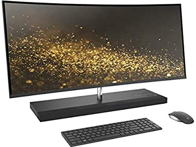 "Latest 2017 HP ENVY 34 CURVED All-In-One Desktop (Intel Quad Core Processor, 34"" WQHD LED (3440x1440) Display, AMD Radeon RX460, Win 10 Home, 256GB PCIe + Storage Drive, DDR4 RAM)"
