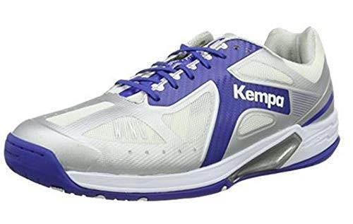 FanSport24 Kempa Fly High Wing Lite Handballschuhe Erwachsene Schuhe blau grau Größe 42
