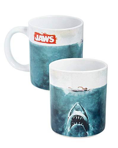 Der weiße Hai - Tasse Kaffeebecher - Kinoplakat Logo - Geschenkbox