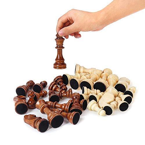 Internationellt schack 32 delar schackpjäser i trä kungshöjd 105 mm schackspel schackspel schackspel schackspel eller tävling