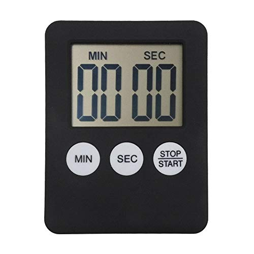 Mini LCD Digital Display kookwekker Plein Keuken Countdown Alarm Magnet Clock Sleep Stopwatch Klok Timer (Color : Black)