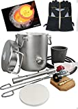 0-28LBS(12.8KGS) Gas/Propane Melting Furnace Kit, Stainless Steel 304,Up to 2700°F/1425°C,CRUCIBLE, Leather gloves,TONGS Kiln,Melt Gold,Silver,Copper,Aluminum,Metal melting Furnace,Jewelry Casting
