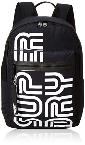 Superdry Damen Nostalgia Backpack Rucksack, Schwarz (Black), 35x20x45 cm