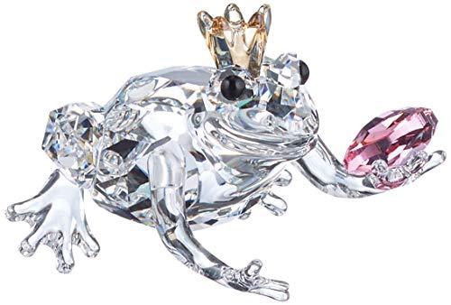 Swarovski With Love Figurine, Crystal, White/Gold/Pink, 3.4 x 3.8 x 3.5 cm