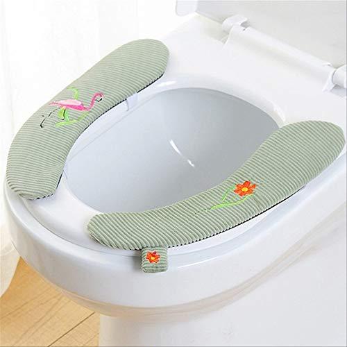 KGCA WC-Sitzbezug aus Samt, weich, WC-Paste, WC-Sitzpolster, waschbar, Bad wärmer, Sitzdeckelpolster, klebrige SitzmattenB