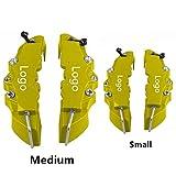 Lot de 4 Housses pour étriers de Frein à Disque 3D sans Logo SFFSMD - pour Disque Avant et arrière - pour 17 Pouces - 2 pièces de Taille Moyenne et 2 Petites