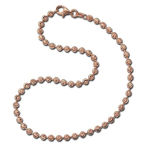 SilberDream Moon SDF3025E - Tobillera para mujer en color oro rosa de plata 925