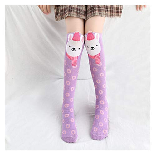 Hjdmcwd Calcetín Calcetines para niños al por Mayor Kids Kidree High Girl Southorean Dibujos Animados Socks Socks Algodón Calcetines de Pato Amarillo (Farbe : 5, Größe : 2 12years Old)