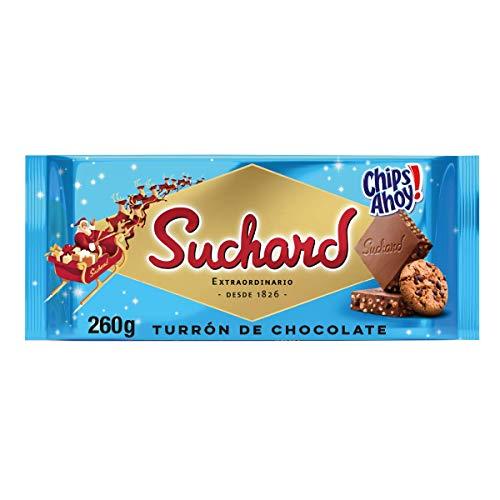 Suchard Turrón De Chocolate Con Leche Y Galletas Chips Ahoy Navideño - Tableta De G, Navidad Y Fiestas, 260 G